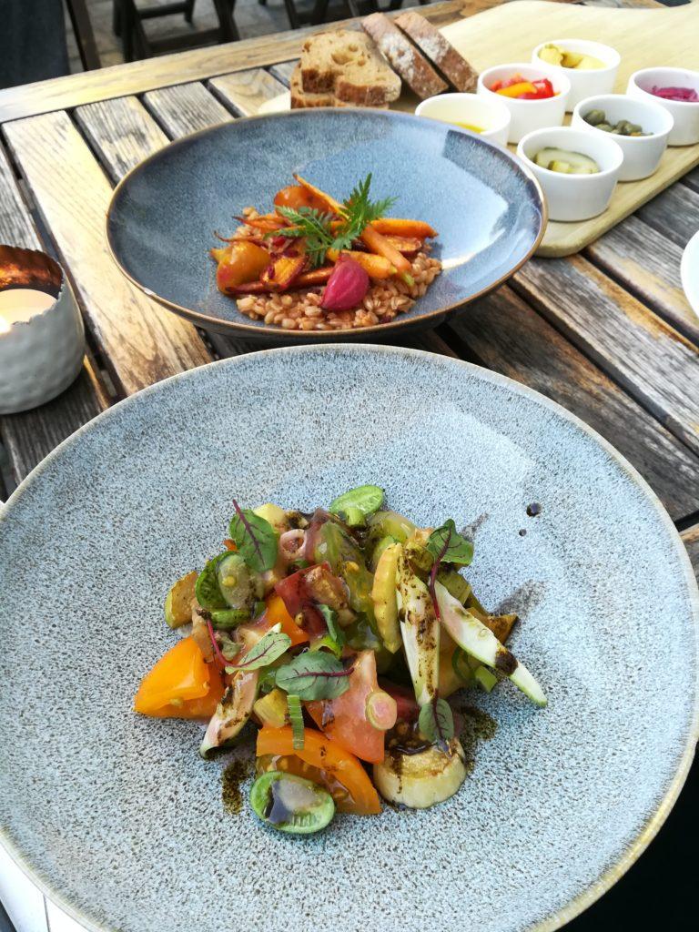 Chefs Garden Menü im Tians Bistro - Zweierlei Vorspeisen