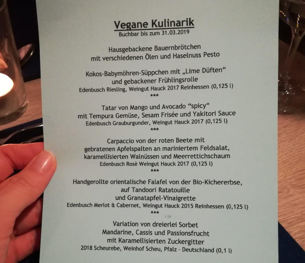 """Vegane Kulinarik - Menü """"Das weiße Haus"""""""